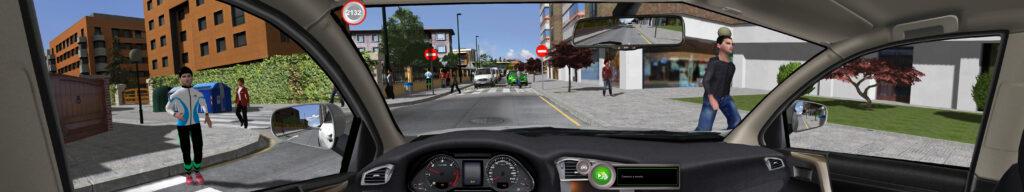 DriveSIM Vista desde el interior del vehículo
