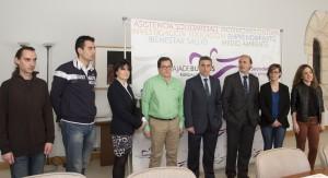 Emprendedores junto a Rafael Barbero, director de la Fundación y José Mª Vela, director de ITCL