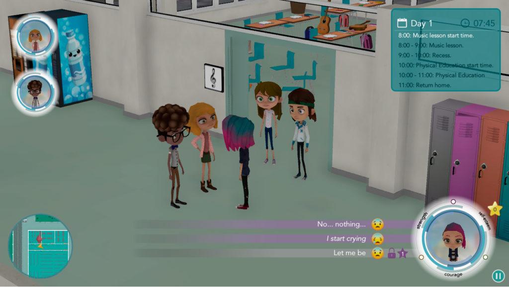 Test de Serious game contra el bullying