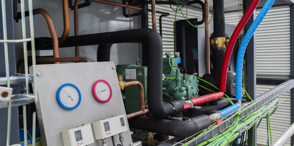 Planta piloto de refrigeración industrial