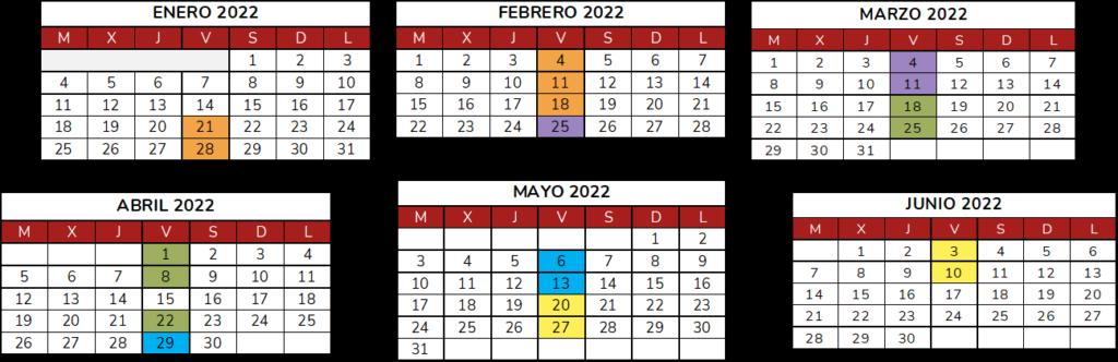 Calendario Mantenimiento